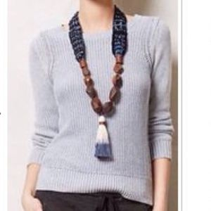 {Anthropologie} Sparrow Blue Cable Knit Sweater